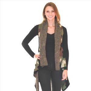 Chic Camouflage Sweater Vest